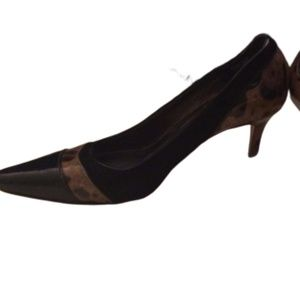 Roberto Capucci Patent Leather & Suede Heels 6B